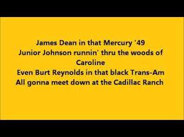 lyrics cadillac ranch bruce springsteen cadillac ranch with lyrics
