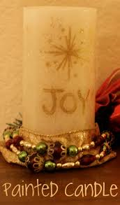 handpainted flameless christmas candle a martha stewart crafts