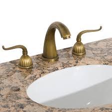 bathrooms design side rotunda wide spread faucet antique brass