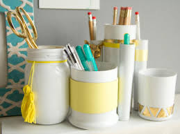 How To Make Desk Organizers by Make Your Desk Accessory Set Hgtv