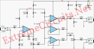 electric guitar violin preamplifier electronic circuits