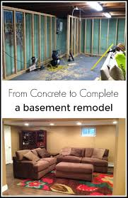 basement makeover from concrete to complete remodel basements
