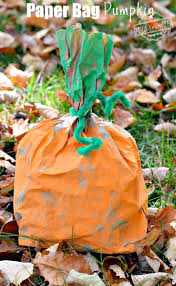 easy and fun paper bag pumpkin craft for kids to make