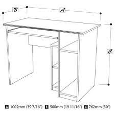 30 Inch Wide Computer Desk by Up To 40 In Desks Hayneedle