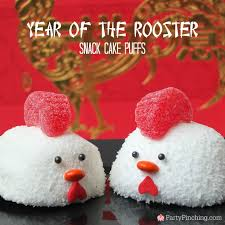 year of the rooster snack cake puffs chinese lunar new year food