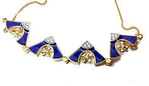 swarovski necklace blue stone images Silver 925 opens jerusalem cross plated 18k gold pendant necklace jpg