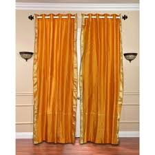 Mustard Curtain Orange 96 Inches Curtains U0026 Drapes Shop The Best Deals For Nov