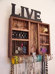 space organizers space saving jewelry organizer with bracelet bar and ring