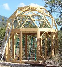 small round dome cabin built with econodome frame kit new