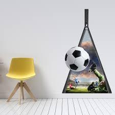 buy cool cheap 3d wall stickers online now 80 sale lesara 3d vinyl wall sticker zipper with football