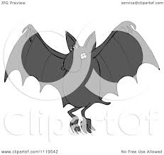 cartoon of a flying dog bat royalty free vector clipart by djart