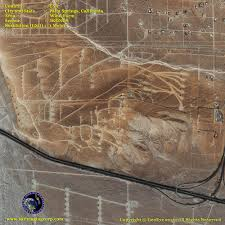 Palm Springs Map Ikonos Satellite Image Wind Energy Farm Satellite Imaging Corp
