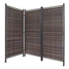 tri fold room divider folding wicker partition screen outdoor privacy partition