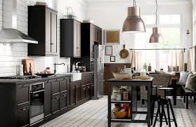 ikea black brown kitchen cabinets black is back in kitchen at least santa sentinel