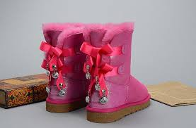 ugg bailey bow sale womens ugg bailey bow bling i do 1004140 leather womens pink boots uk sale