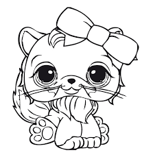 coloring pages littlest pet shop coloring pages cat chidren