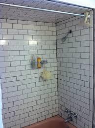 ideas white subway tile shower excellent white subway tile