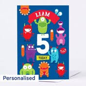 personalised any age birthday card boy pirate captain from 99p