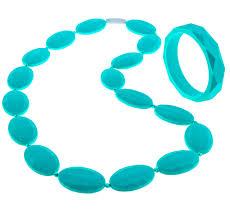 amazon com beabies fda silicone nursing teething necklace for