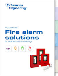 fire alarm product guide edwards signaling pdf catalogue