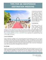 inexpensive destination weddings the money side of tips for an inexpensive destination wedding