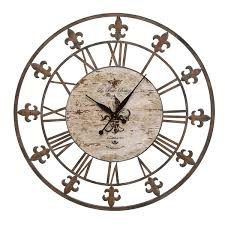 Fleur De Lis Utensil Holder Iron Fleur De Lis Metal Wall Clock