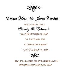 wedding ceremony invitation wording fascinating modern wedding invitation wording from and groom