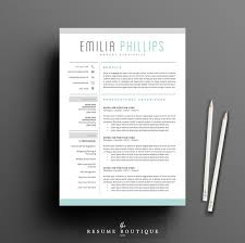 creative resume template resume template 4 page pack aqua resume templates creative market