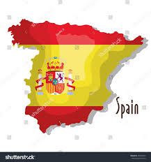 Spain Map World by Spain Map Flag Isolated Icon Design Stock Vector 455090926