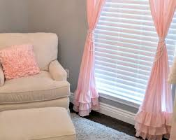 Light Pink Curtains Pink Ruffle Curtains Free Home Decor Oklahomavstcu Us