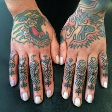 Finger Tribal - 52 small finger tattoos ideas you must see now