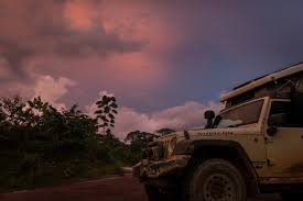 jeep beach sunset glorious gabon the road chose me
