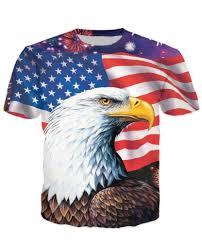 Bald Eagle On Flag 2017 Eagle Usa T Shirt V2 Galaxy Shirts Jewelry And