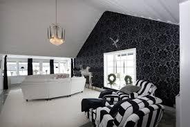 tapete wohnzimmer tapete in schwarz fürs wohnzimmer 25 ideen und beispiele