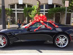 new car gift bow kcba fox 35 monterey salinas a corvette appears with a