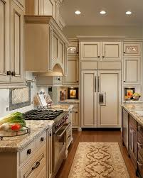 kitchen cabinets and countertops designs antique ivory kitchen cabinets with black brown granite counter
