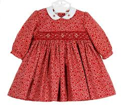louise dotted twill smocked dress smocked baby dress