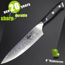 haoye 8 inch damascus chef knife japanese vg10 steel kitchen haoye 8 inch damascus chef knife japanese vg10 steel kitchen knives sushi meat sashimi cook sharp slicer g10 handle 2017 new in kitchen knives from home