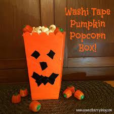 Halloween Washi Tape by Washi Tape Pumpkin Popcorn Box A Sweet Berry U0027s Blog