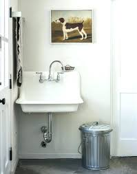 wall mount laundry sink cast iron wall hung sink wall mounted laundry sink home design ideas