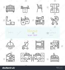 Nursery Stuff by Home Stuff Outline Icon Set 15 Stock Vector 391580878 Shutterstock
