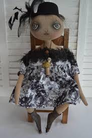 celene primitive folk art halloween witch doll a cheese creek