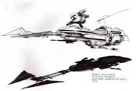 star wars episode vi return of the jedi speeder bike concept art