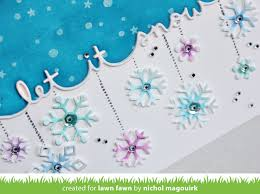 lawn fawn let it snow snowflake card