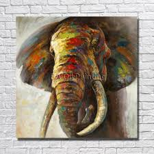 high quality hand painted canvas art abstract elephant oil painting on canvas paintings on the wall home decor no frame in painting calligraphy from home