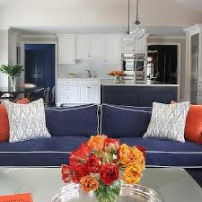 Orange Living Room Chairs by Orange And Blue Living Room Design Ideas
