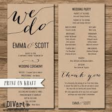 wedding program order wedding program ceremony order order of events