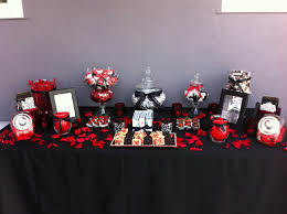 red and black candy buffet event planning pinterest candy