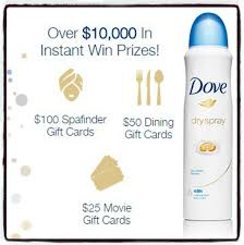 dining gift cards dove spray instant win win 100 spafinder gift card a 50