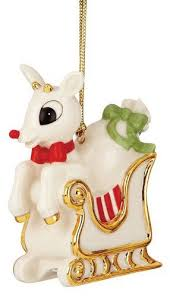 lenox rudolph s ride ornament home kitchen